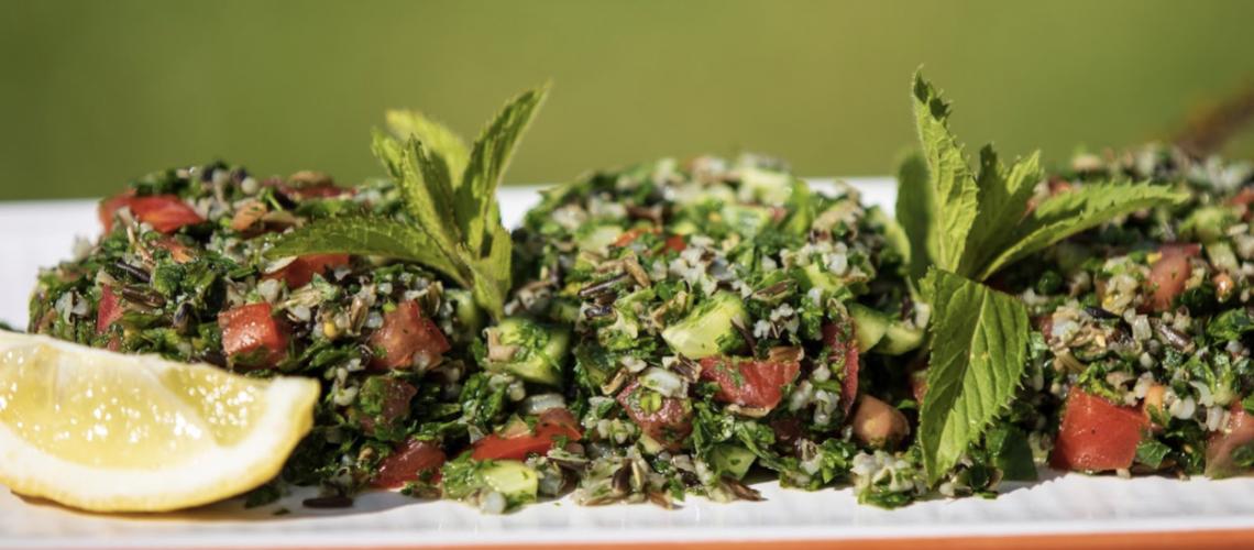 Oregon Wild Rice Parsley Salad